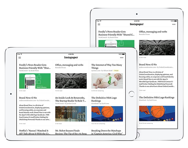 Instapaper 7.0 for iOS brings Article Thumbnails and more