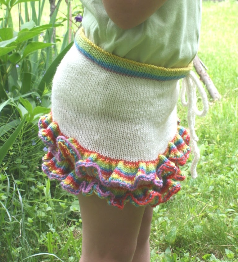 All Knitted Lace Free Pattern Ruffles Skirt