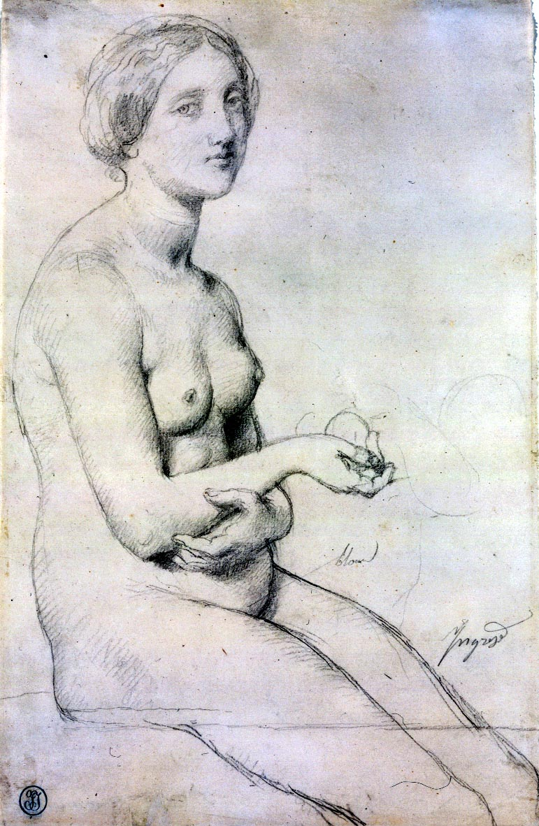 Study of Seated Female Nude (1830)