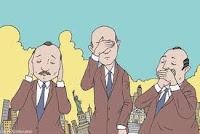 Presidente sordo y ciego critica politica