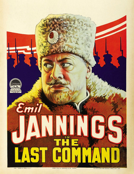 classic posters, free download, free printable, graphic design, movies, printables, retro prints, theater, vintage, vintage posters, vintage printables, Emil Jannings in The Last Command - Vintage Theater Movie Printable Poster
