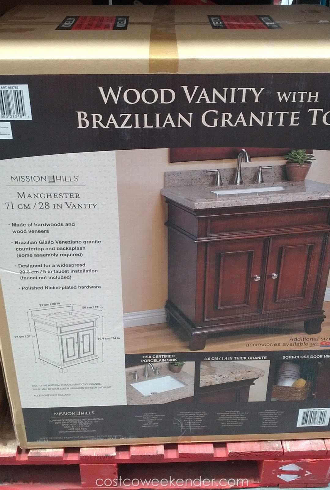 ... Manchester Wood Vanity with Brazilian Granite Top Costco Weekender