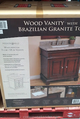 Renovate your bathroom with the Mission Hills Manchester Wood Vanity with Brazilian Granite Top
