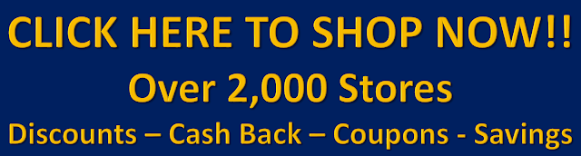 Cash Back Shopping at Over 2,000 Stores