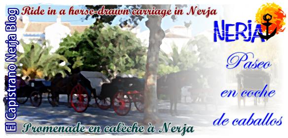 Dar un paseo en un coche de caballos por Nerja puede ser una experiencia inolvidable