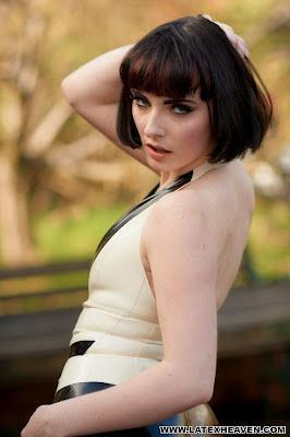 Delicious Portia Posing in Latex Tux