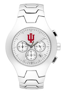 LogoArt Indiana Hoosiers NCAA Men's Stainless Steel Hall of Fame Watch