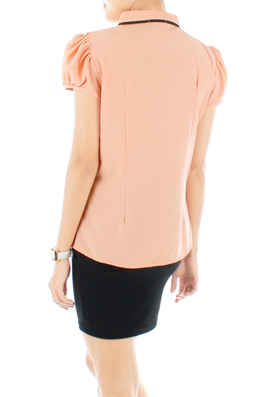 Joy Ruffle Blouse – Light Apricot