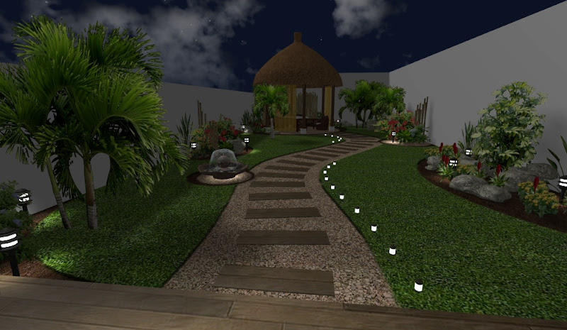 Arreglos adornos y decoraciones para jardines ideas for Luces de jardin exterior