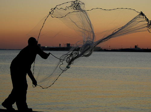 easy cast net throwing instructions