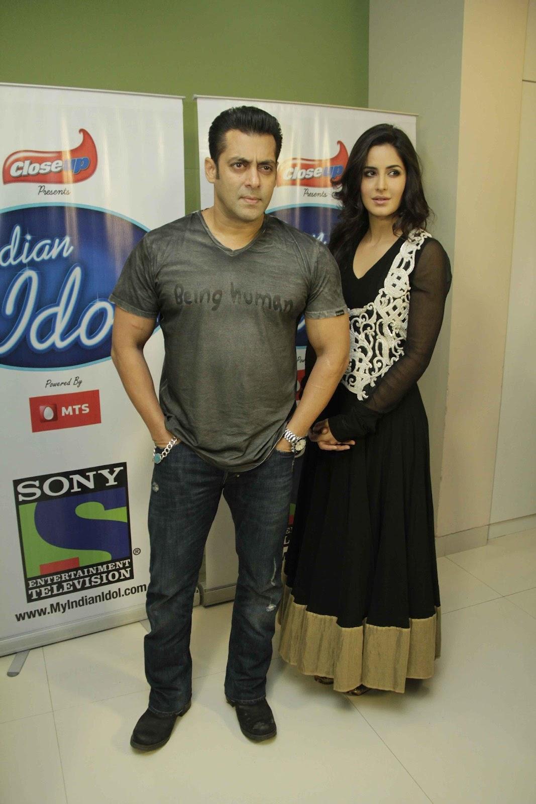 bollywood, tollywood, hot, Salman, Khan, and, Katrina, Kaif, Promoting, Ek, Tha, Tiger, on, India, Idol