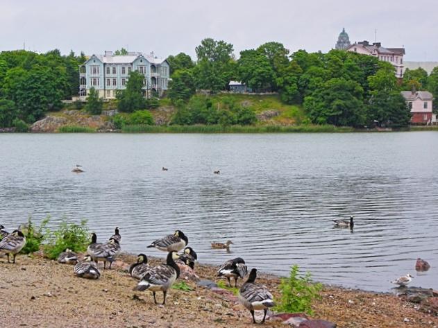 Lago Töölönlahti (o bahía de Töölö)