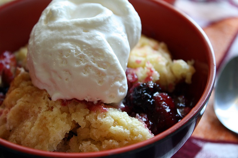 Serve with a dollop of whipped cream, cool whip or vanilla ice cream ...