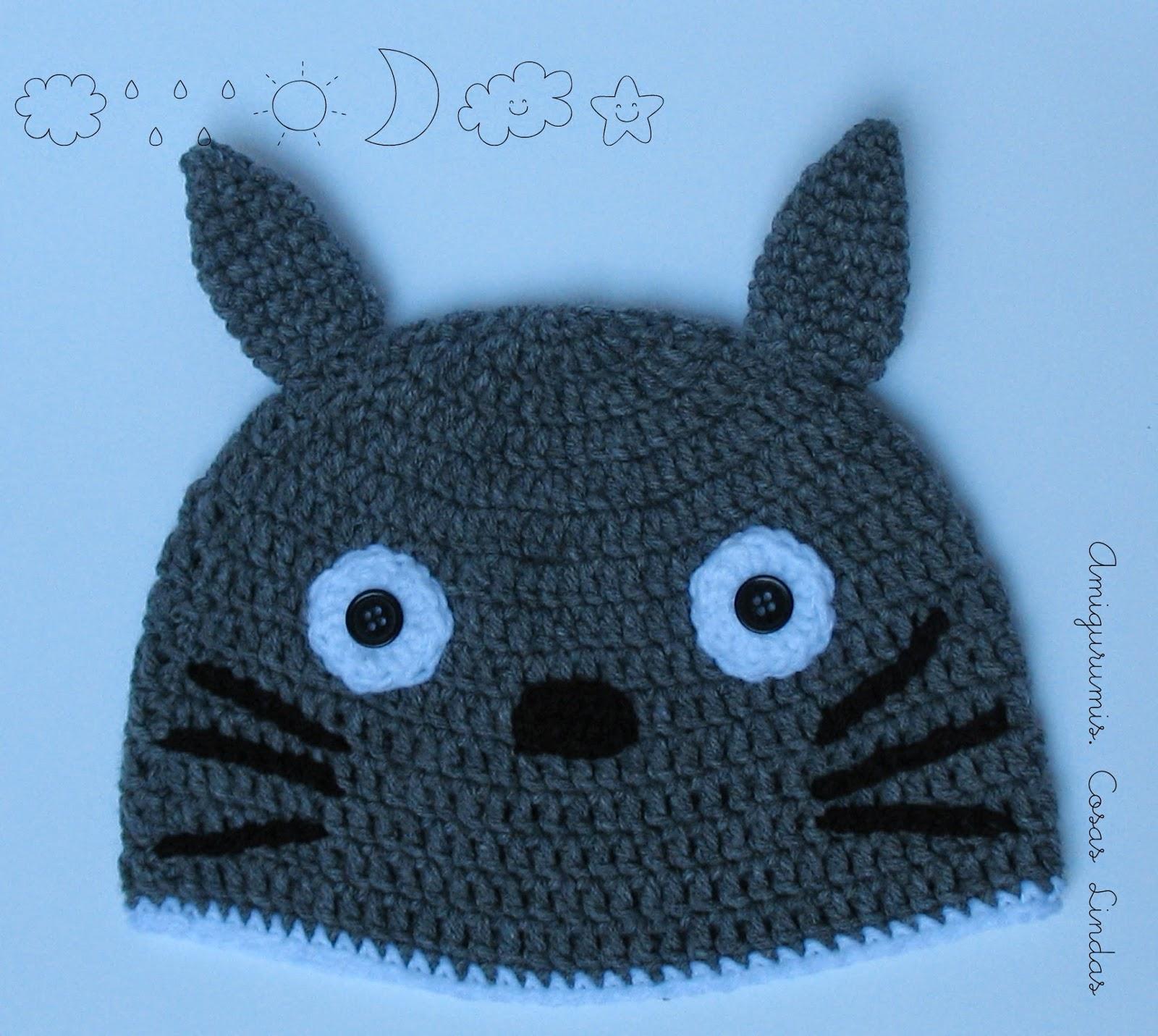 Amigurumis Totoro Patron : Amigurumis cosas lindas gorro a crochet totoro