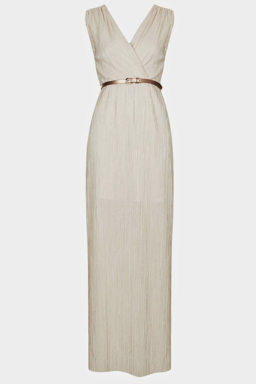 cream grecian dress
