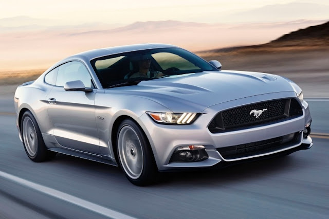 2015 All New Ford Mustang GT sportcar front side view