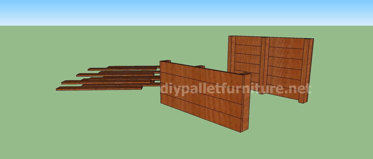 proyecto y planos de caseta para perros hecha con palets. Black Bedroom Furniture Sets. Home Design Ideas