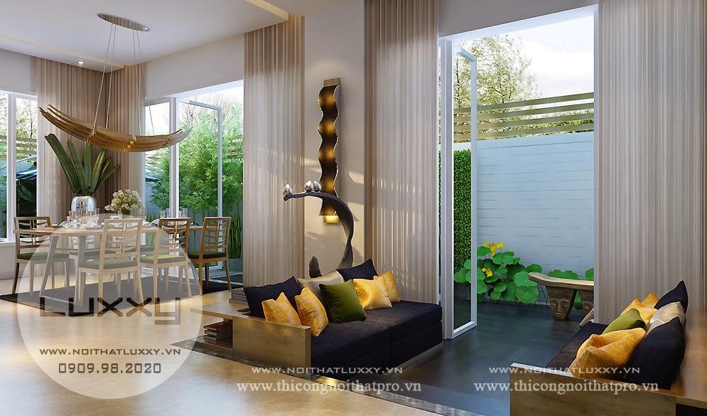 Thiết kế Biệt Thự ấn tượng song lập ở Vincom Village ở Sài Đồng
