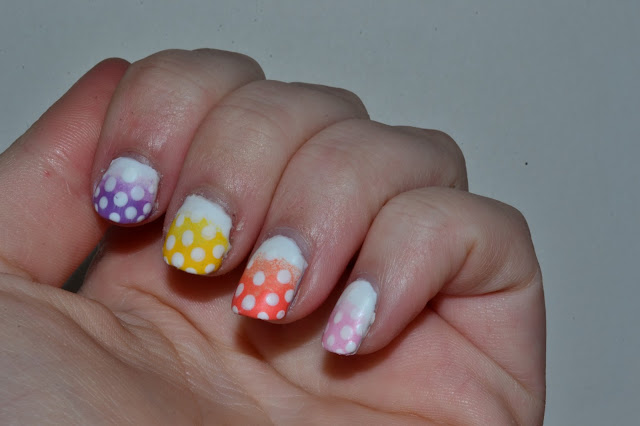 Colorful Polkadot Nails by Elins Nails