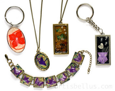 Origami Jewelry: Decorated Bezels