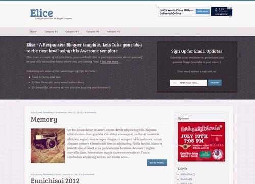 Elice Blogger Template - Gọn gàng và Tinh tế