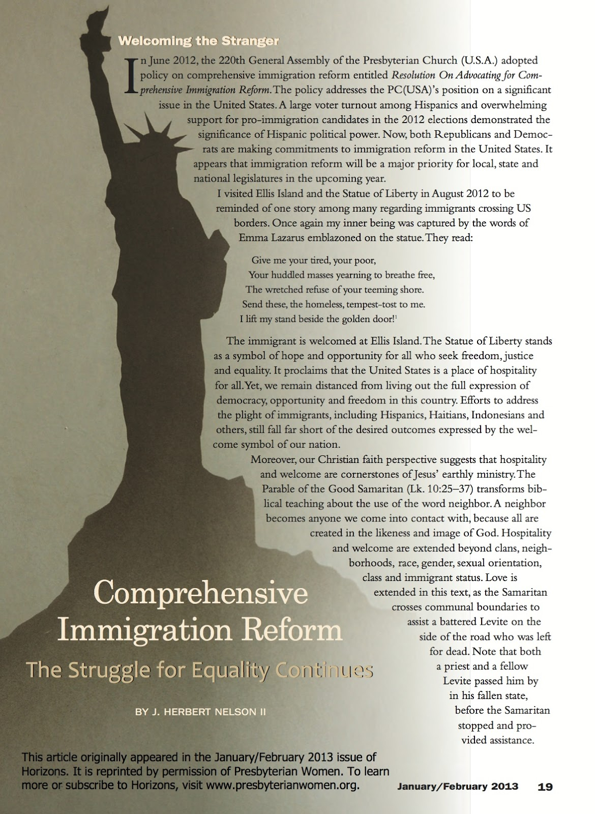 comprehensive immigration reform This is historical material frozen in time the website is no longer updated and links to external websites and some internal pages may not work.