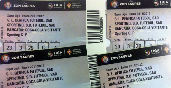 Sporting na mente bilhetes esgotados for Piso 0 inferior estadio da luz