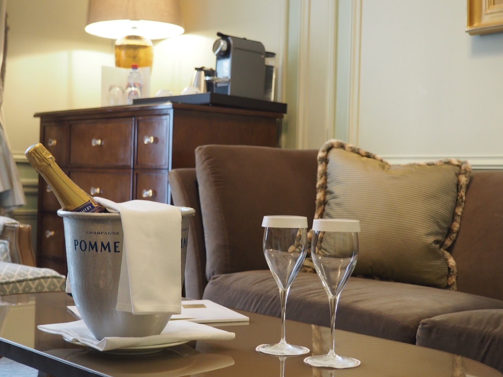 Champagne in Saint-Honore-Suite, Hotel Westminster, Paris