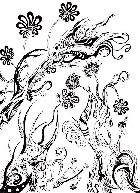 Dessins Fantastiques Fleurs+noires