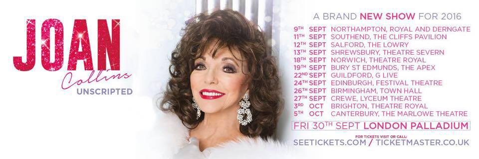 JOAN COLLINS UNSCRIPTED 2016