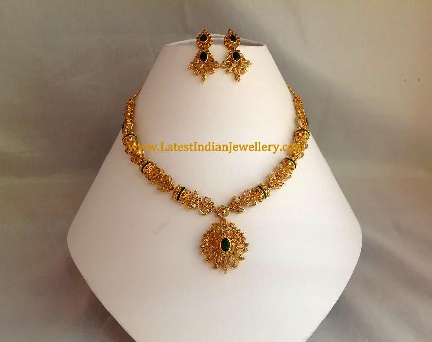 Simple Uncut Diamond Necklace