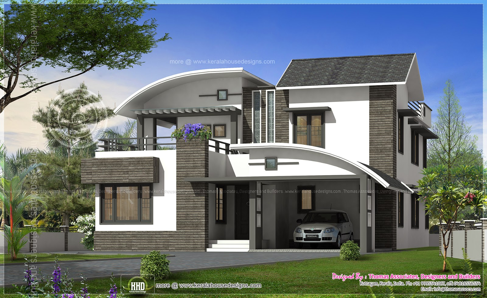 Luxury contemporary house in 355 sq yards kerala home for Modern house history