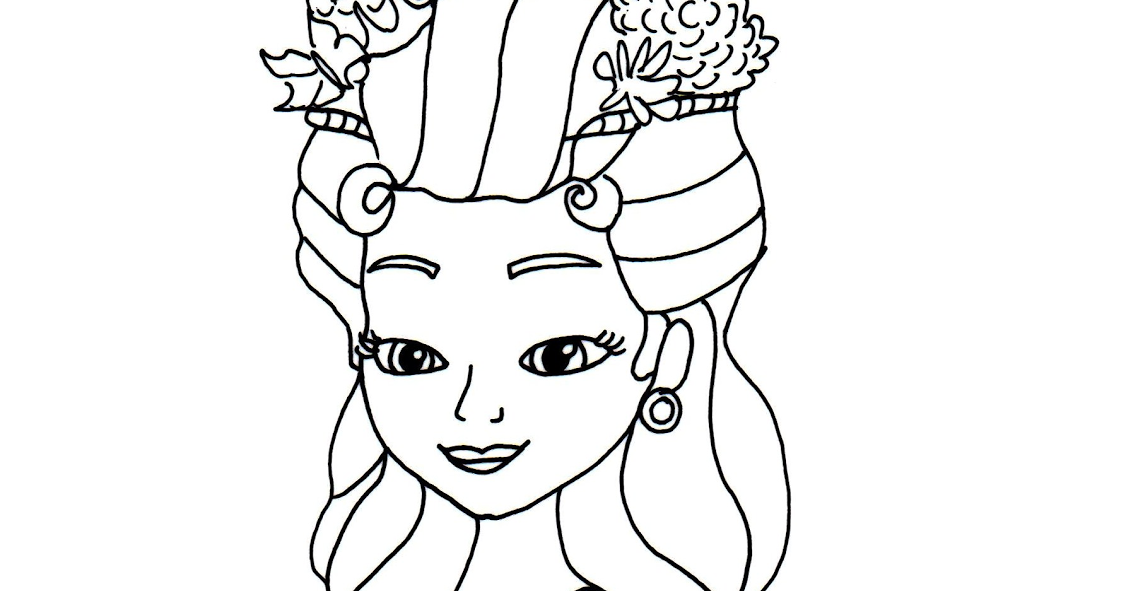 Barbie rapunzel coloring pages print for Sofia the princess coloring pages