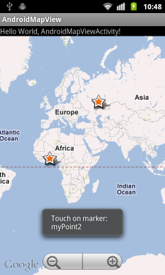 Detect touch on marker in MapView