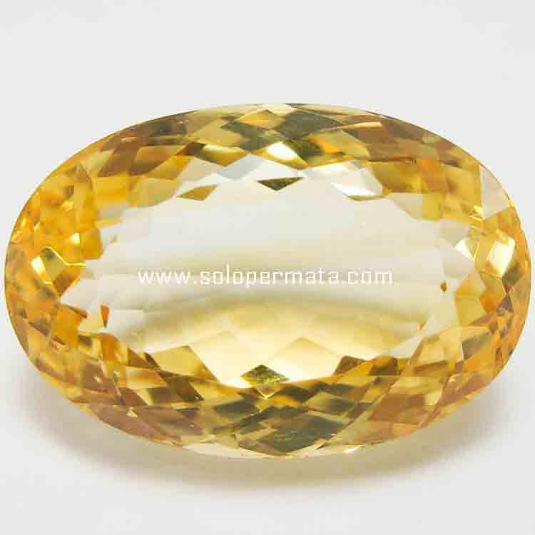 Batu Permata Big Yellow Citrine - 26B02