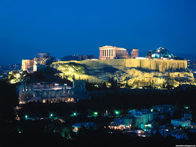 Athens Wonderful Acropolis Evening Historical Ancient Greek City Greece Hd Desktop Wallpaper
