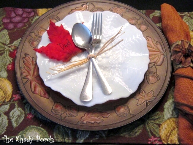 Fall Place Setting by The Shady Porch #charger #plate #silverware #placemat #napkin