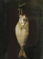 barcenas, cuadro, besugo, dinero, pescado, azul, blanco, mar,