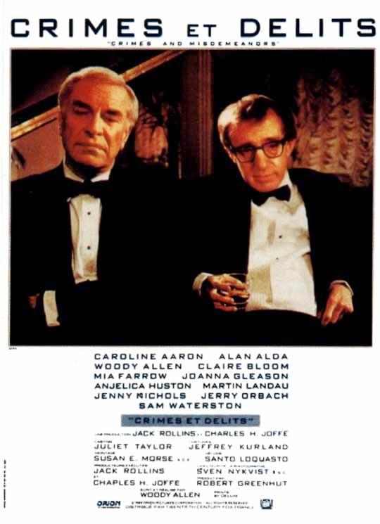 Affiche de Crimes et délits de Woody Allen