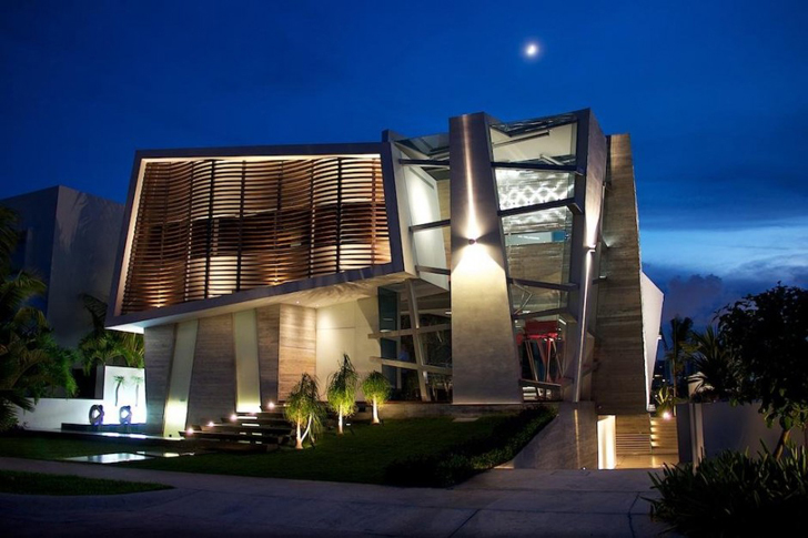 World of architecture unique house design in mexico by so for Cool home designs