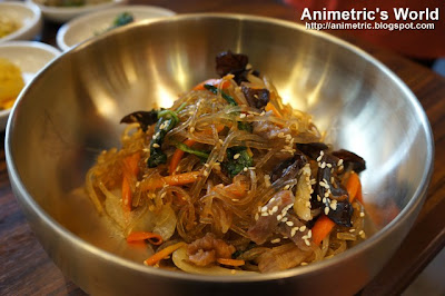 Japchae at Sariwon Korean Barbecue
