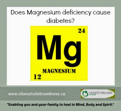 Does magnesium deficiency cause diabetes?