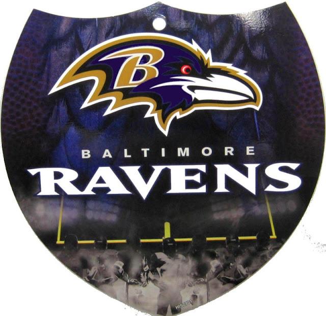 Baltimore Ravens Logos Team Color NFL Plastic Interstate Sign