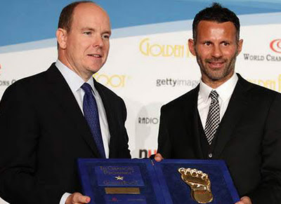 Ryan Giggs 2011, Giggs has won the Golden Foot award 2011