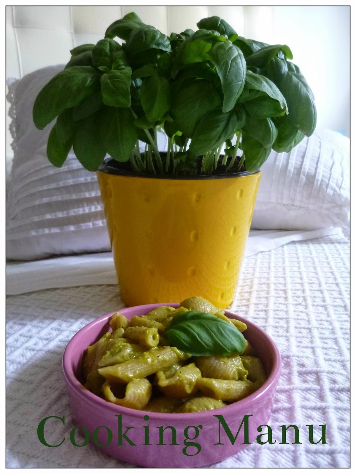 pasta fredda al pesto di pisellini (salad pasta with peas pesto)