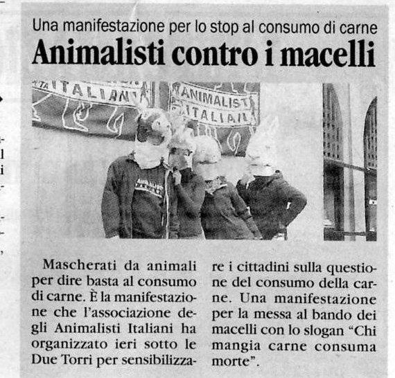 ABOLIAMO LA CARNE. Animalisti contro i Macelli