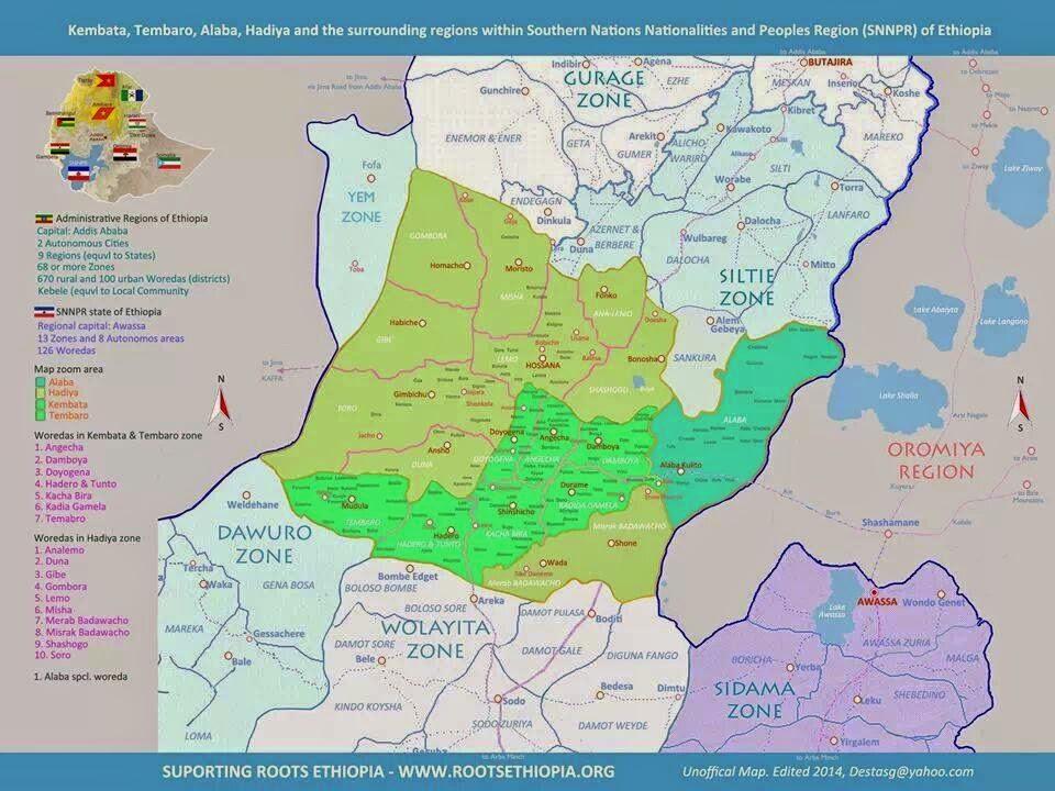 Map  - Hambaricho & the Surrounding