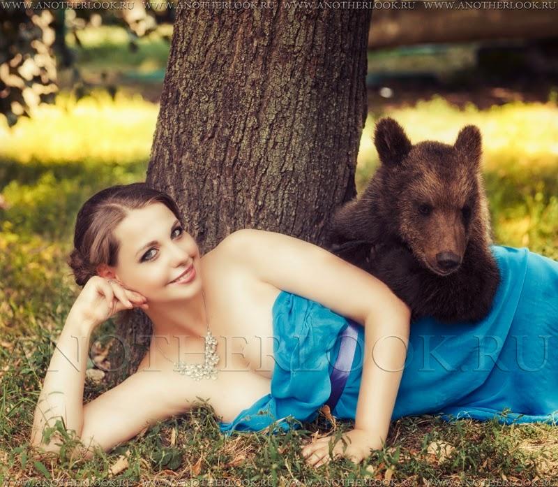 Фтосессия с медведем