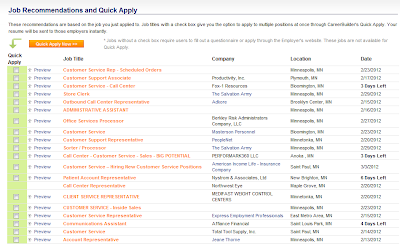 CareerBuilder Quick Apply