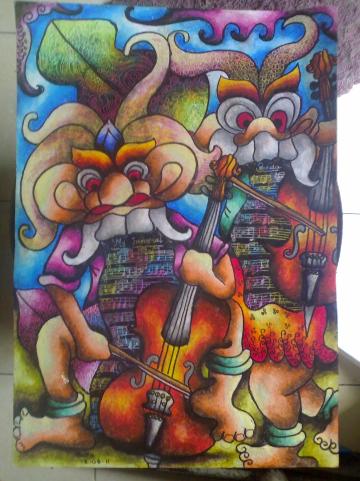 DUO VIOLIN CELLIST Media Kertas 30x40 cm Crayon Tanggal Pembuatan 19 Mei 2011
